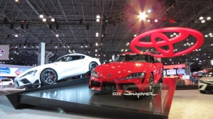 New York Auto Show Toyota Supra Display